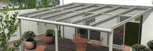 Aluminijast nadstrešek za terase in balkone