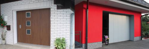 Stranska sekcijska garažna vrata