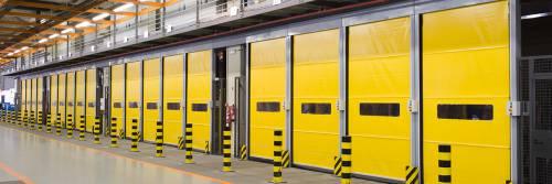 Industrijska hitrotekoča PVC rolo vrata